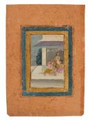 Dara Shikoh with mistress and ladies in waiting, Indian miniature on card [India (Rajasthan), c. 170