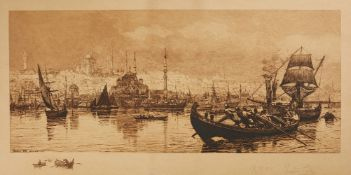 Tristram Ellis (artist), View of Constantinople Harbour, signed etching on paper [n.p. dated 1893 AD