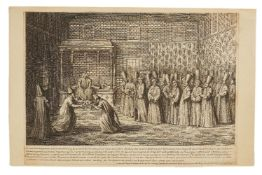 Reception of the French Ambassador le Vicompte D'Andrezel with Sultan Ahmed III