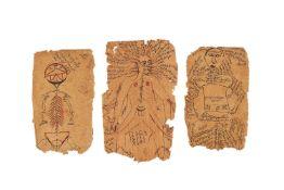 Tashrih-e Mansuri, three leaves from dispersed manuscripts, in Farsi, decorated manuscripts on paper