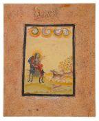 A Ragamala Painting, possibly the Todi Ragini, Indian miniature on card [Northern Deccan or Gujarat,