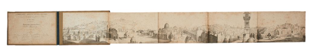 Ɵ Panormic Sketch of Jerusalem, taken from the Governor's Palace, from sketches by Mrs Bracebridge