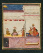 A group of 4 Indian miniature paintings, illuminated on paper [India (most Rajasthan), eighteenth or