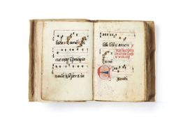 Ɵ Pocket monastic choirbook, in Latin, decorated manuscript on parchment