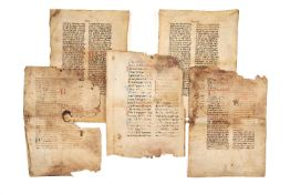 Collection of leaves from liturgical codices, in Latin, manuscripts on parchment