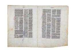 Bifolium from a copy of Peter Lombard, Magna Glossatura in Epistolas Pauli