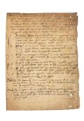 Leaf from a codex, with short accounts of a soul released from purgatory by a priest saying mass