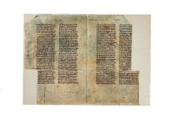 Large teaching collection of leaves from medieval manuscripts and charters