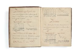 Ɵ Arithmetique, calligraphic manual on the practical applications of the subject, in French