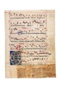 Large decorated initial from a manuscript Antiphoner