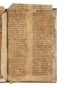 Ɵ Eight large fragments from a Romanesque Passional, in Latin, manuscript on parchment