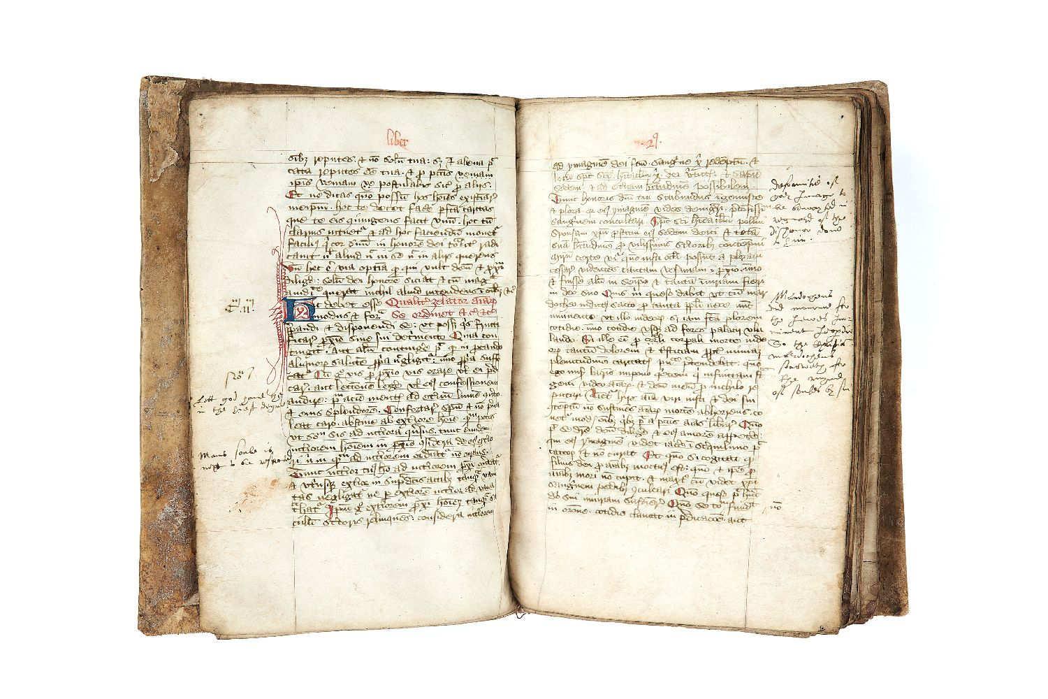 Lot 76 - Ɵ Franciscan devotional compendium, in Latin with short Middle English marginalia