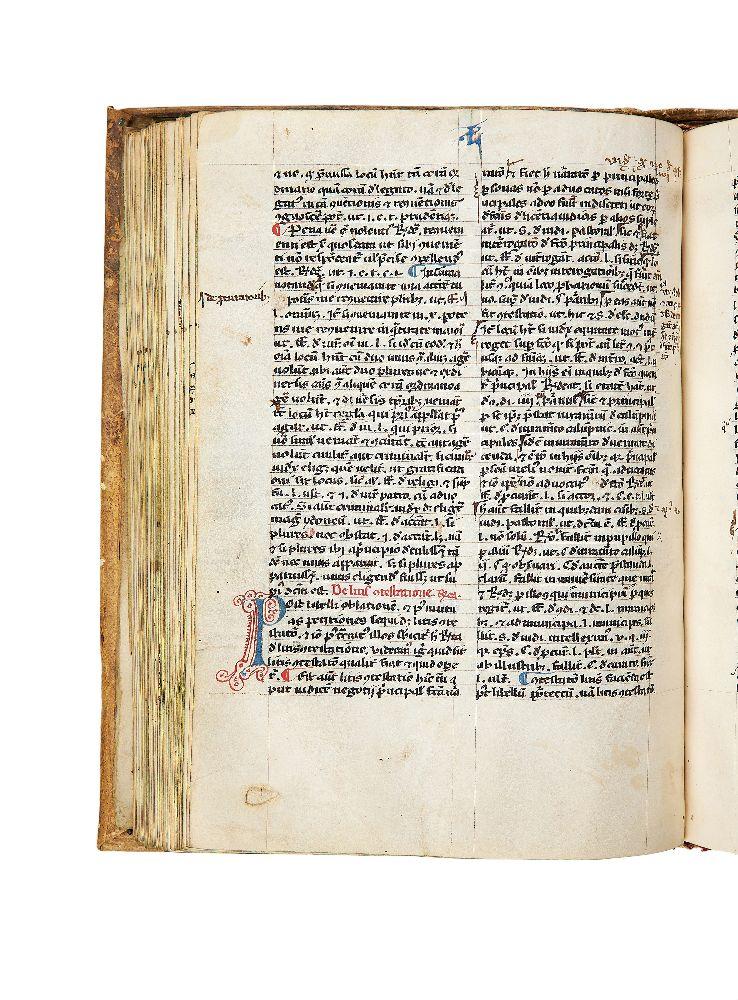 Lot 74 - Ɵ Goffredus de Trano, Summa super rubricis decretalium and Iohannes de Deo