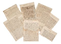 Small archive of correspondence from the Gran Duchy of Tuscany concerning slaves