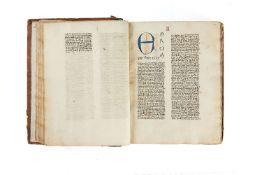 Ɵ Walter Burley, Commentaries on Aristotle, De Physica, in Latin, illuminated manuscript on paper