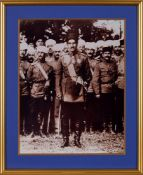 Young Reza Shah Pahlavi with Military officers, early photograph [probably Tehran, c. 1925]