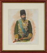 Engravings of Qajar Nobility and Generals, hand-coloured engravings on paper [France, c. 1850]