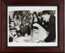 The Wedding of Mohammad Reza Shah Pahlavi and Queen Soraya, original press photograph, by Internatio