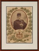Announcement of the Death of Muzaffar ad-Din Shah Qajar, designed by Atelier M. Grünberg, printed in