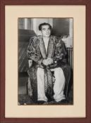The Shah in recovery from his Appendectomy, original press photograph, by the Associated Press Wirep