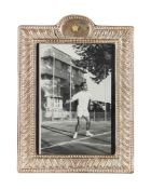 Morning Game at Saadabad Palace, Mohammad Reza Shah Pahlavi playing Tennis, original press photograp