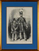 Portraits of Nasser ad-Din Shah Qajar, engraving and chromolithograph prints on paper [Paris, 1860-1