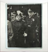 Ahmad Shah Qajar in London, pictured here with Lord Waldren, original press photograph [London, date