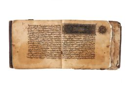 Ɵ Section from a Maghribi Qur'an, in Arabic, illuminated manuscript on paper
