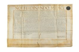 Conveyance of the title and privileges of the Priore d'Urbino granted by Ferdinand Medici