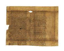 Palladius of Cappadocia, Historia Lausiaca, in Latin translation, cutting from a large leaf