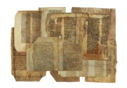 Collection of fragments from medieval manuscripts, all in Latin and on parchment