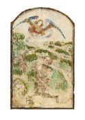 Gideon and his fleece, miniature from the Gradual of Ferdinand and Isabella, illuminated manuscript
