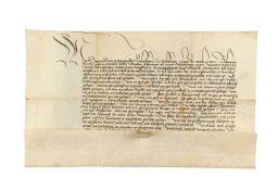 Charter issued by Archbishop Sigismund of Salzburg, in German, manuscript on parchment