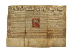 Grant of arms in the name of Emperor Rudolf II to Hieronymus Radler