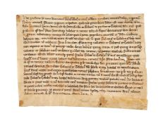 Grant issued by the abbot of the monastery of Sainte Marie in Sauve Majeure, in Latin, single-sheet