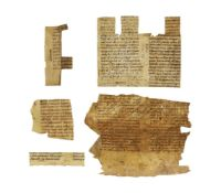 Collection of small cuttings from Biblical and liturgical manuscripts, in Latin, on parchment