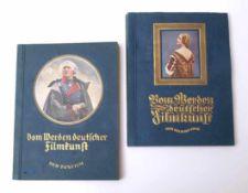 """Zwei Zigarettenbilderalben""""Vom Werden deutscher Filmkunst"""" (Bd.1: Der stumme Film und Bd.2: Der"""