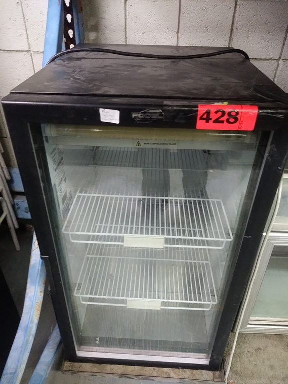 "Lot 428 - FOGEL MINI FRIDGE (CC7-BEV-BLK-RH) (25""D X 21""W X 38""H)"