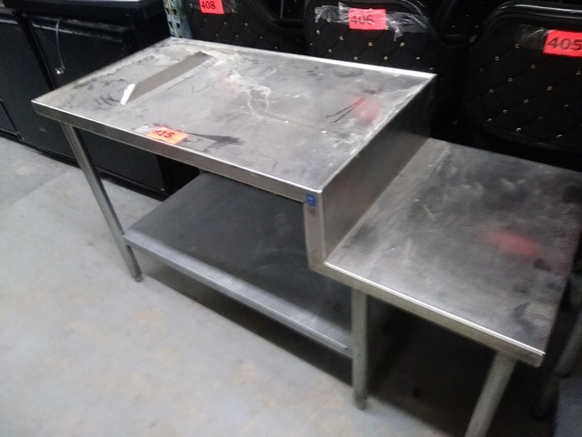 """Lot 415 - 4.5 FT STAINLESS STEEL PREP TABLE (56""""L X 23""""D X 31.5""""H)"""