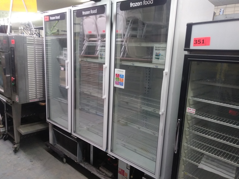 "Lot 348 - MASTER-BUILT 3 DOOR FREEZER (BLG-74-HD) (76"" L X 33.5"" D X 78"" H)"