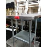 """Lot 411 - 2 FT STAINLESS STEEL PREP TABLE (24""""L X 24""""D X 34.5""""H)"""