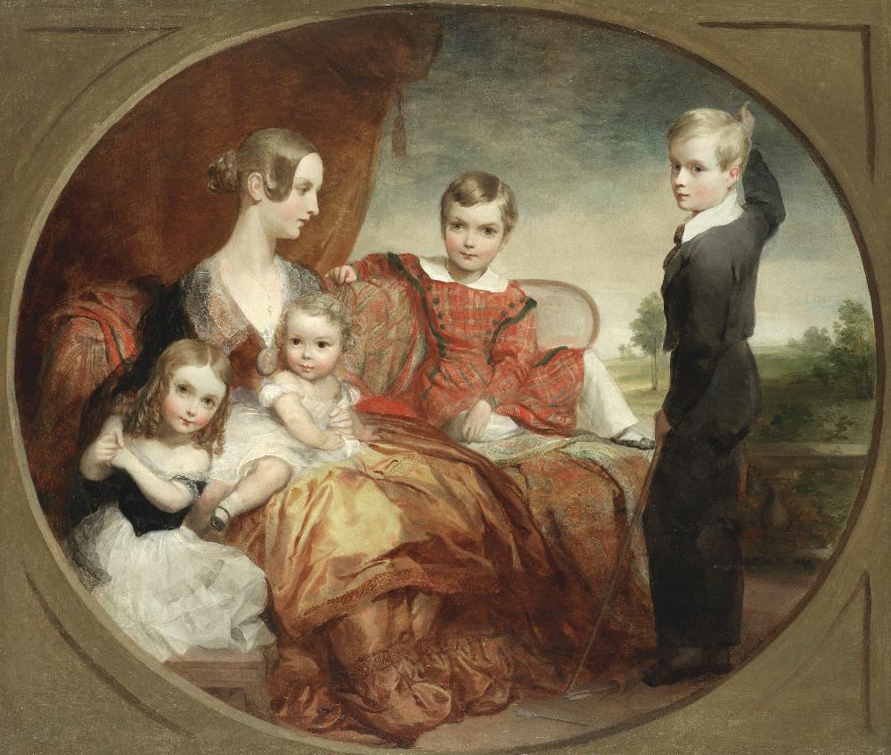Lot 17 - George Frederic Watts, OM RA (British, 1817-1904) The Copeland family