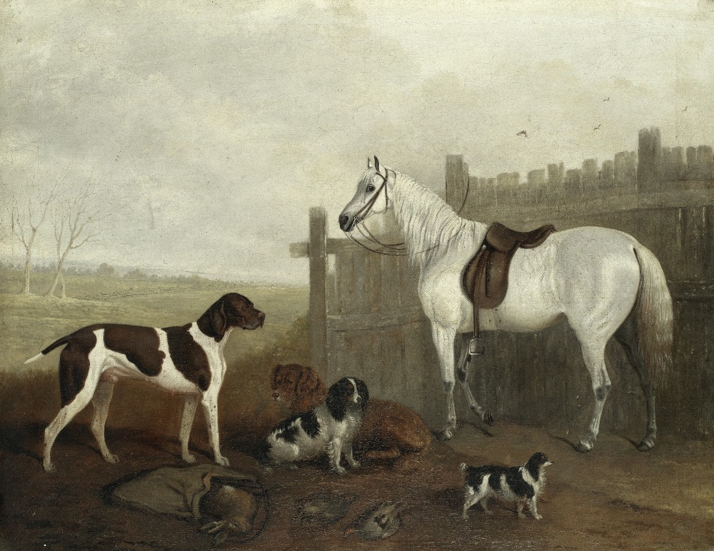 Lot 18 - Edwin Cooper (British, 1785-1833) After the hunt