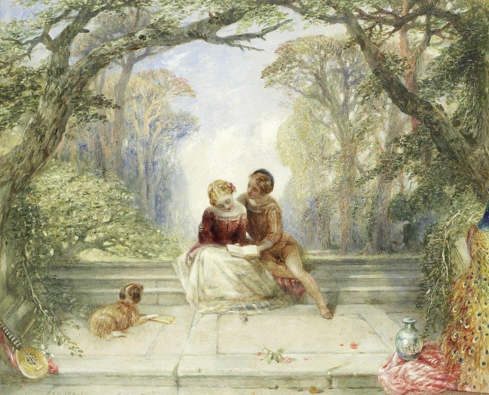 Lot 9 - Alfred Joseph Woolmer (British, 1805-1892) 'Early Summer'