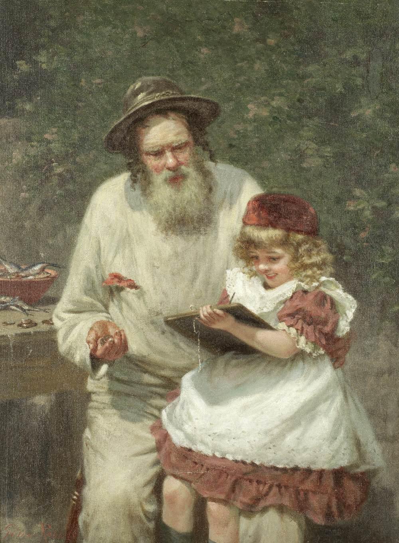 Lot 30 - Edwin Thomas Roberts (British, 1840-1917) 'Neptune & Minerva or A Cornish Reckoning'