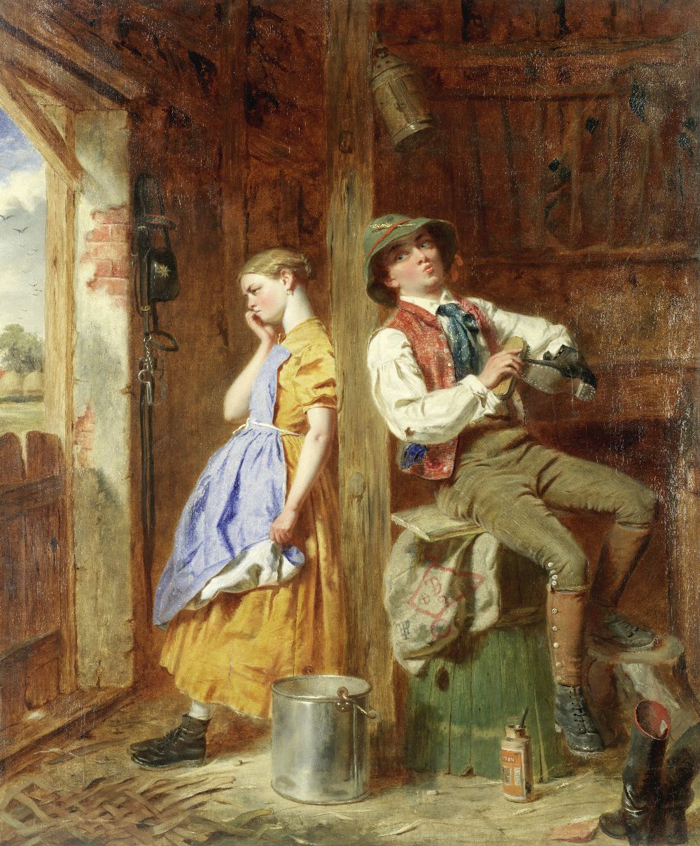 Lot 26 - Thomas P. Hall (British fl.1837-1867) Young love