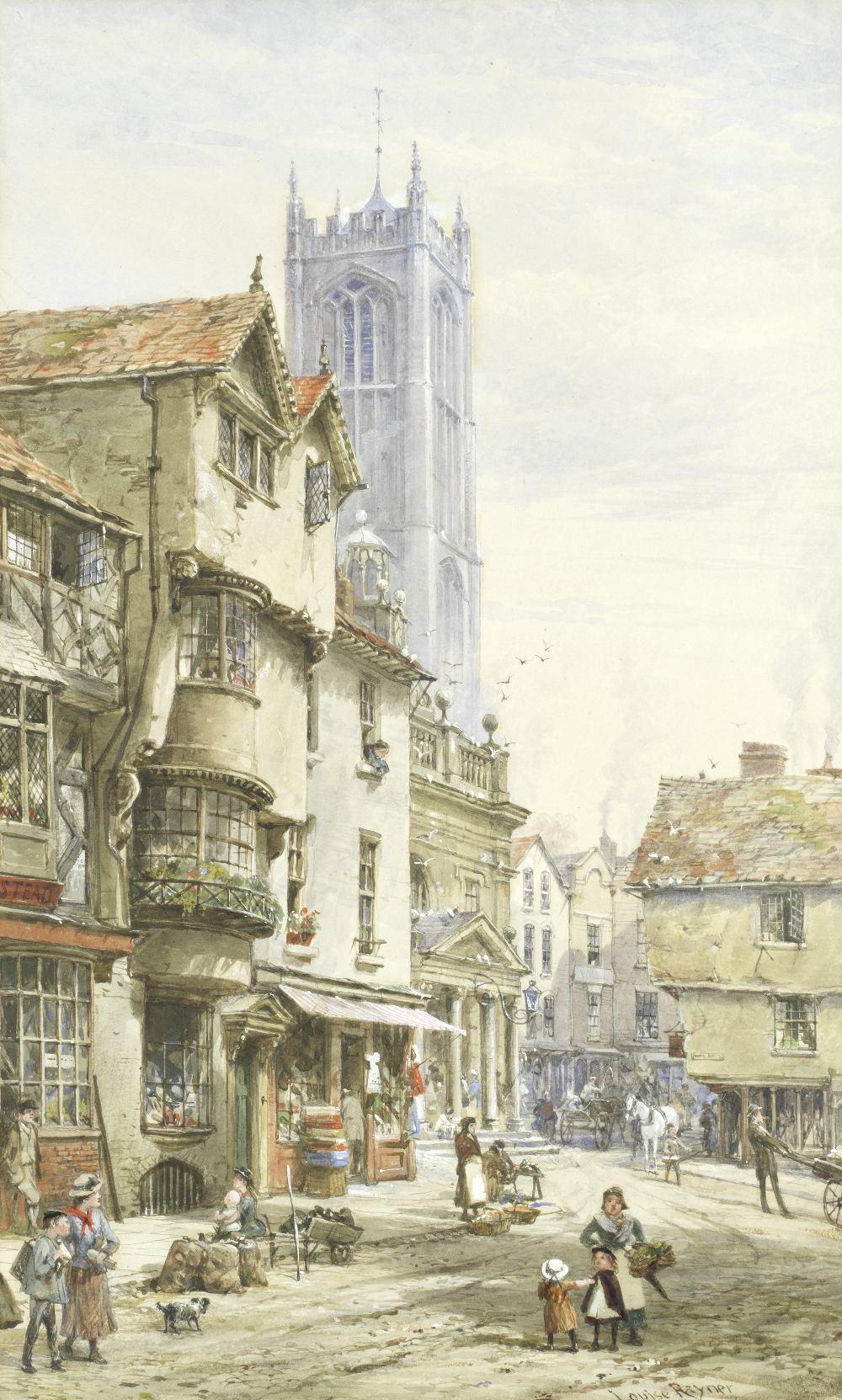 Lot 2 - Louise J. Rayner (British, 1832-1924) Ludlow, Shropshire
