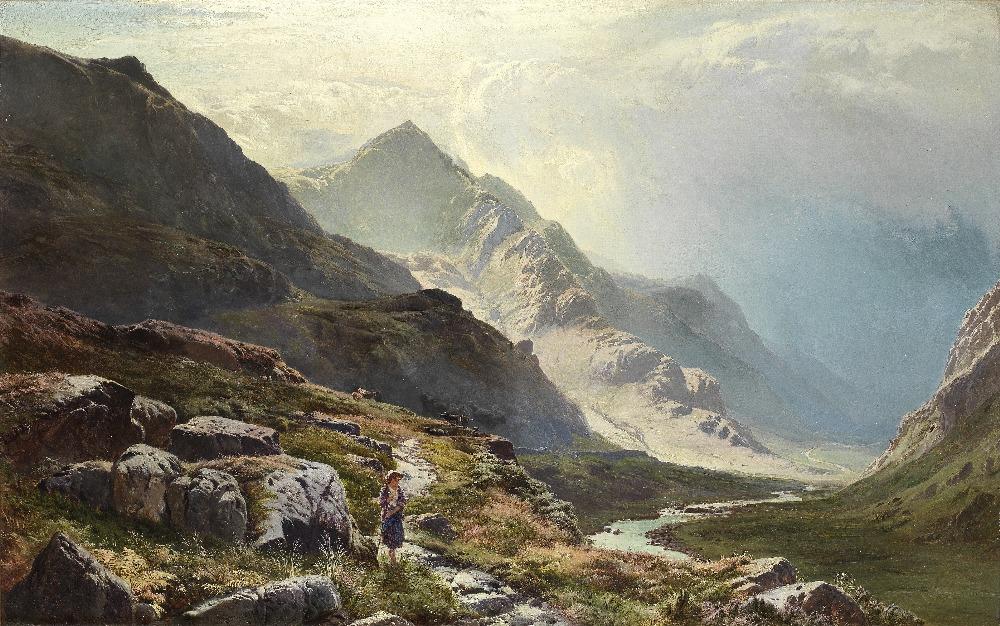 Lot 19 - Sidney Richard Percy (British, 1821-1886) The mountain pass