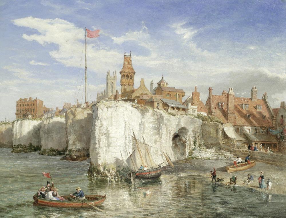 Lot 4 - William Parrott (Overley 1813-1875) 'No Man's Land, Margate, Kent'