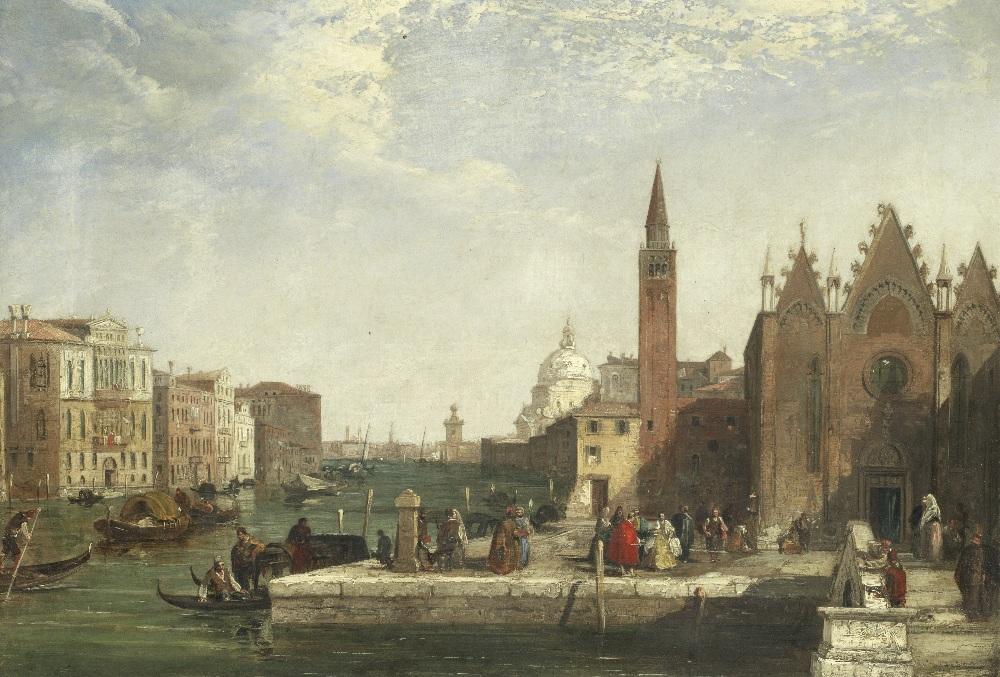 Lot 37 - Edward Pritchett (British, 1828-1864) The Grand Canal, Venice